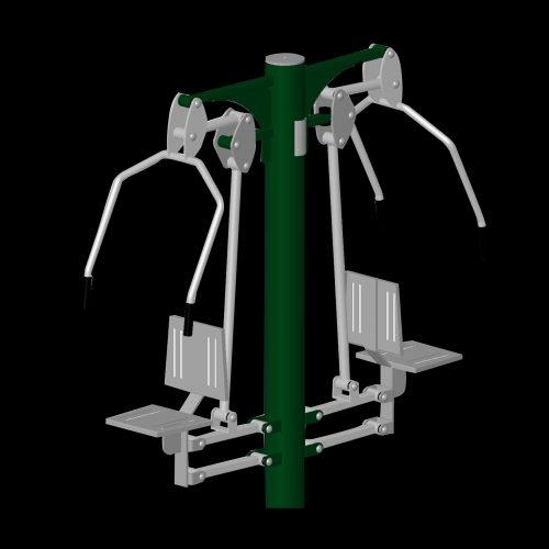 Developpé vertical double