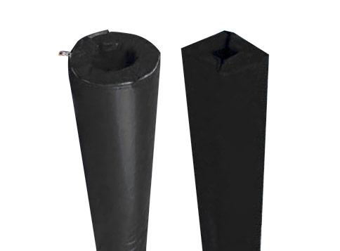 Protections mousse coloris noir