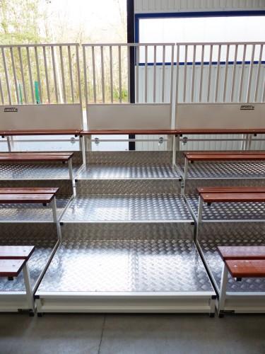 Escalier pour tribunes 4 rangées