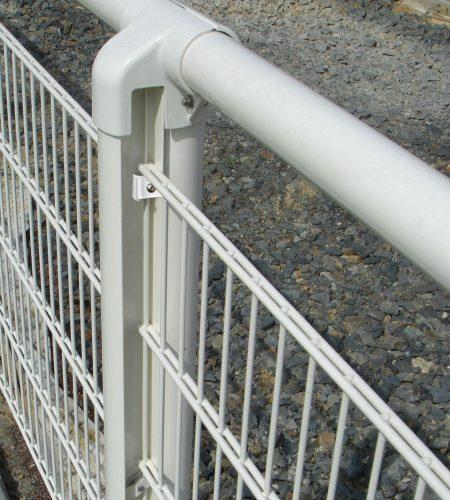 Main courante aluminium double fils