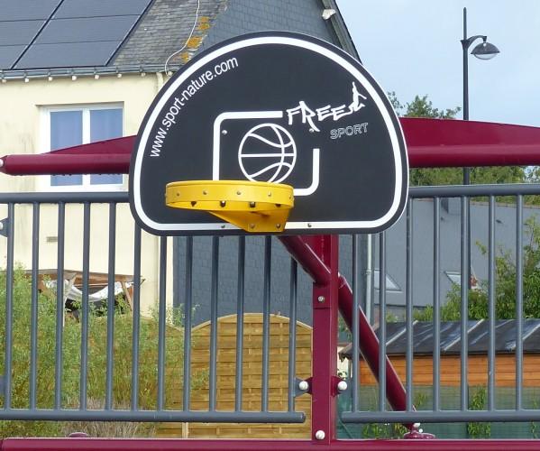 Panneau de basket pour terrain multisports