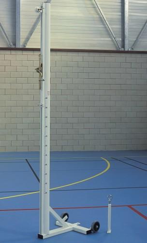 Poteaux de volleyball mobile sur embase