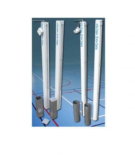 Poteaux de tennis en aluminium