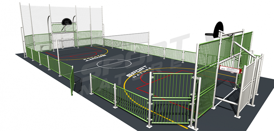 3D d'un multisports acier