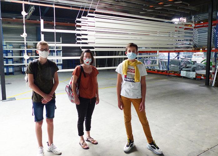 Visite de l'entreprise SPORT NATURE par le groupe de jeunes du conseil